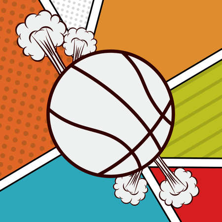 preassure: basketball desing over colors bacground vector illustration.