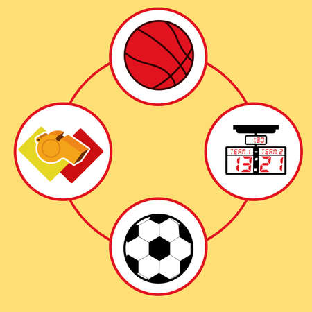 comunication: soccer desing over yellow  background vector illustration.