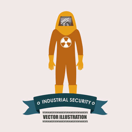 wear mask: industrial security, desing over white background vector illustration.