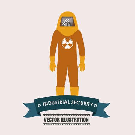 seguridad industrial: seguridad industrial, el desing sobre fondo blanco ilustraci�n vectorial. Vectores