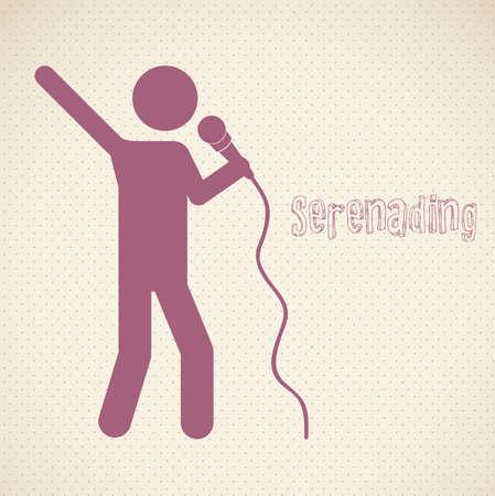 serenading: Serenading vector illustration