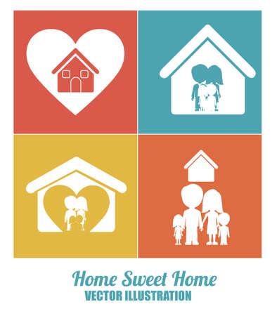 hometown: sweet home design over white background, vector illustration. Illustration