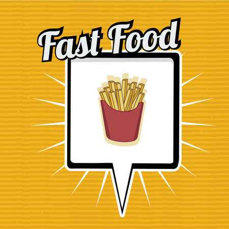 ailment: Fast Food design over yellow background, vector illustration.