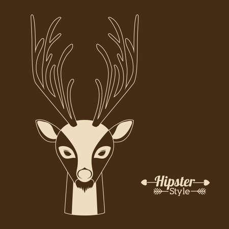 brown: Animal design over brown background Illustration