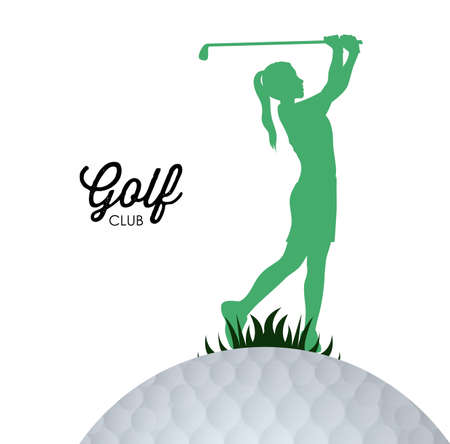 golf clubs: sport design over white background, vector illustration.