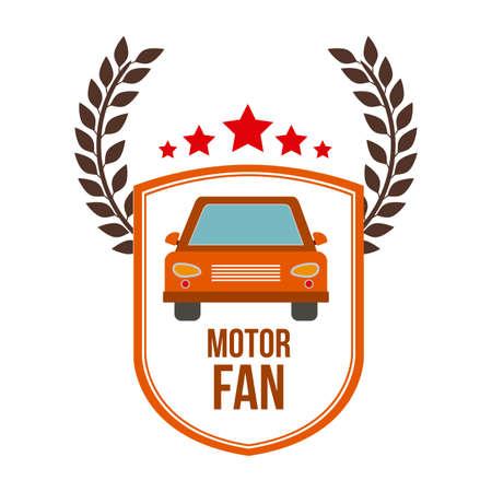 electrical part: Motor Fan, Vector illustration Illustration