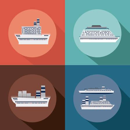 caribbean cruise: Caribbean Cruise  Design, vector lllustration Illustration