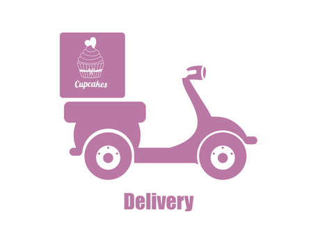 power delivery: Delivery design over white background, vector illustration.