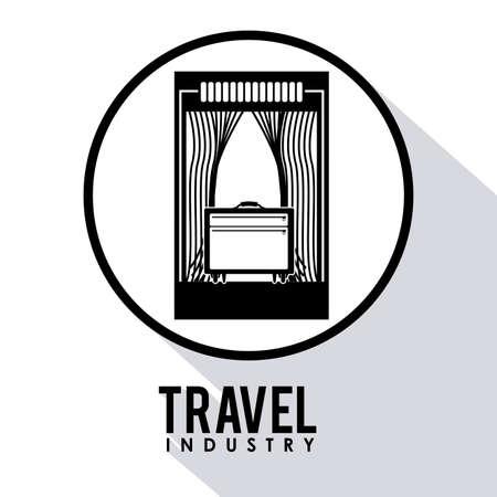travel icon: Reizen pictogram ontwerp, vector illustratie op witte achtergrond