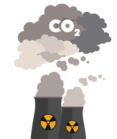 Giftig en verontreiniging ontwerp, vector illustratie Stock Illustratie