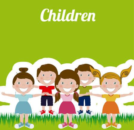 innocent girl: Kids and Children design, vector illustration Illustration