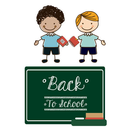 young schoolchild: Back to school design, vector illustration Illustration