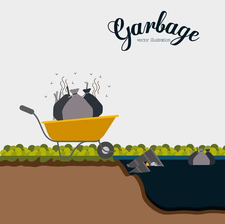 l petrol: Dise�o t�xicas y contaminaci�n, ilustraci�n vectorial