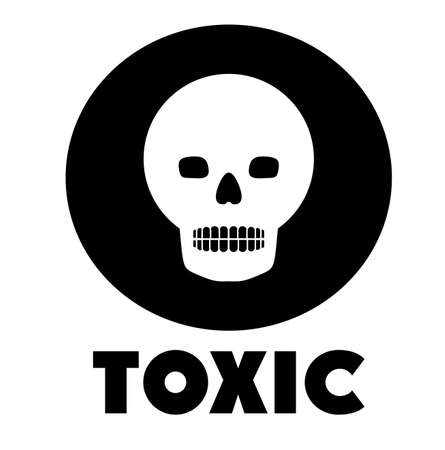 toxic substances: Toxic and Pollution design, vector illustration Illustration