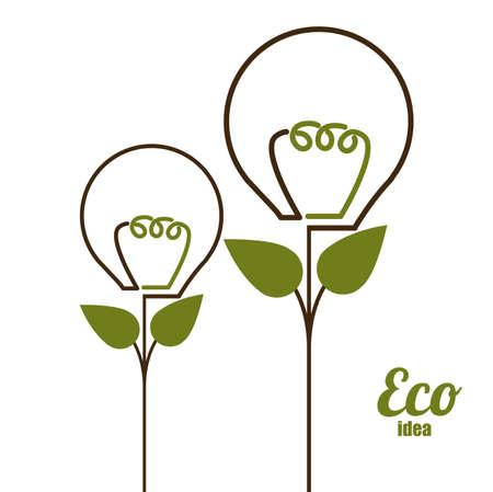 Eco design, vector illustration