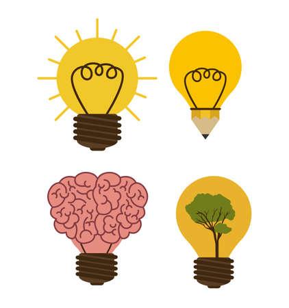 job satisfaction: Great idea design Illustration