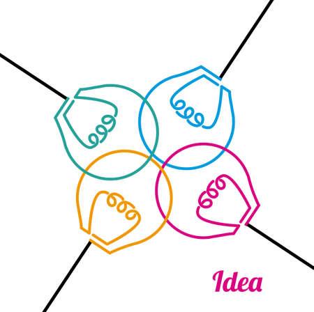 great idea: Great idea design Illustration