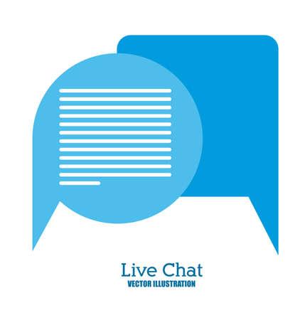 instant message: Live Chat design, vector illustration