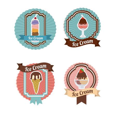 ice cream design: Ice cream design, vector illustration