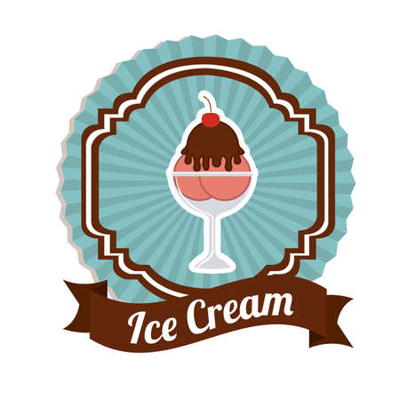 creme: Ice cream design, vector illustration