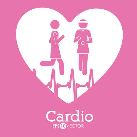 Cardiology design, vector illustration Illustration