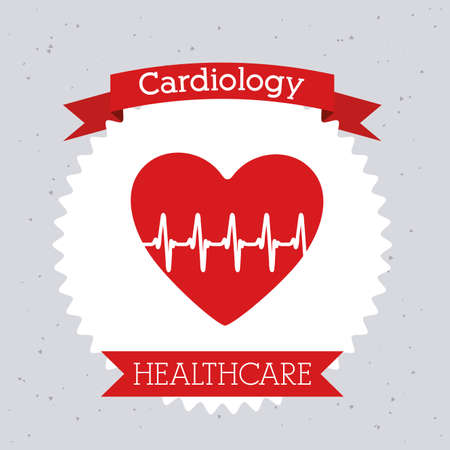 Cardiology design, vector illustration Vector