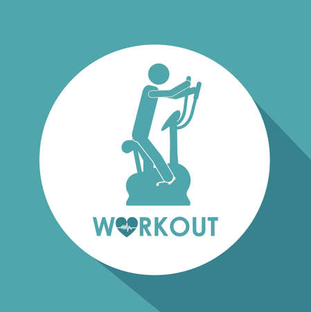 energy center: Fitness and Workout design, vector illustration