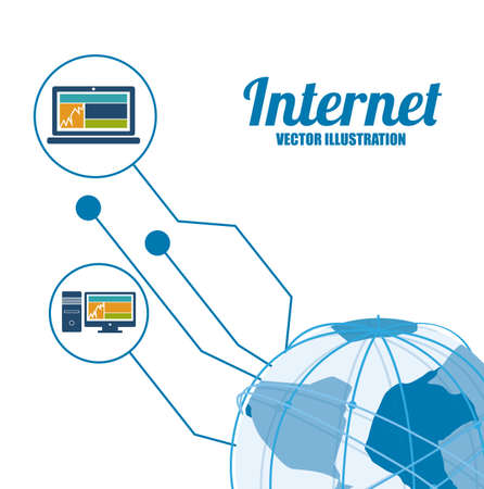 Internet design, vector illustration