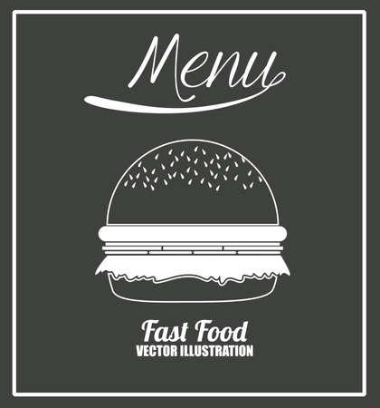 binge: Fast Food design, vector illustration