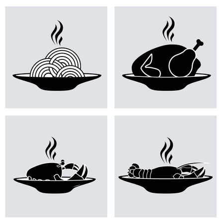 Restaurant design, vector illustration Illustration