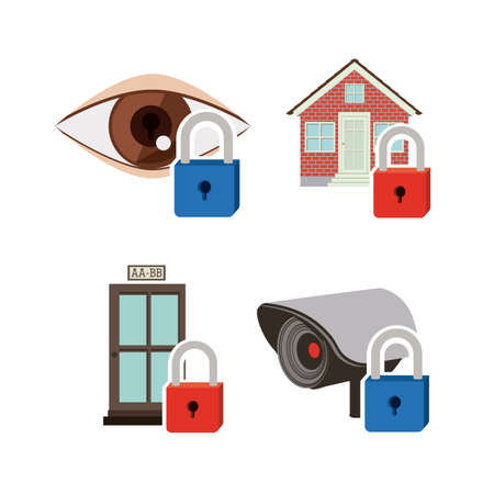 symbol vigilance: Security and Insurence design, vector illustration