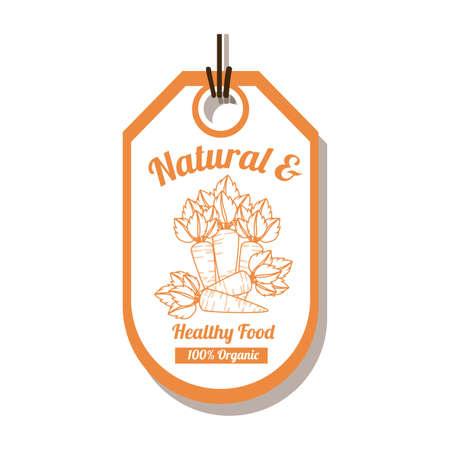 quality of life: Natural Food design, vector illustration