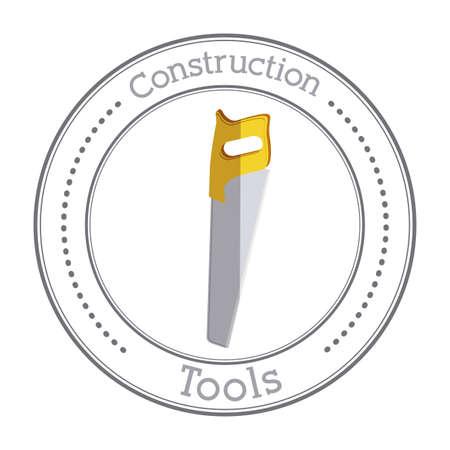 warning saw: Under construction design, vector illustration Illustration