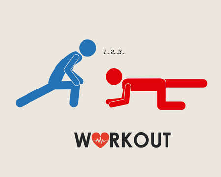 cardio workout: Fitness and Workout design, vector illustration