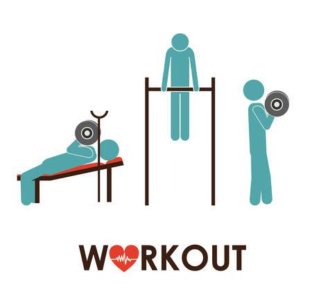 elite sport: Fitness and Workout design, vector illustration