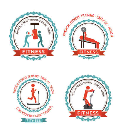 body building exercises: Fitness and Workout design, vector illustration