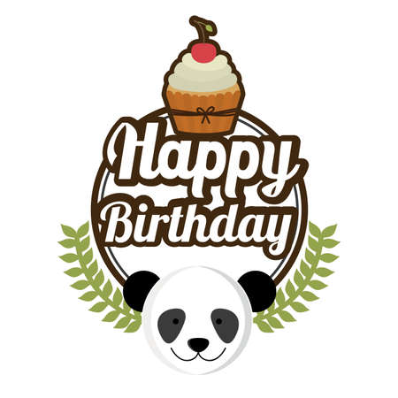 birthday cupcakes: Happy birthday design, vector illustration