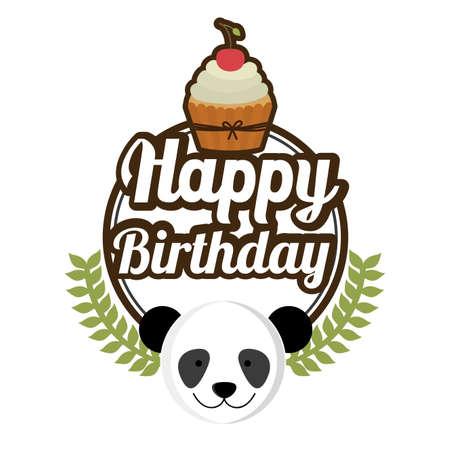 Happy birthday design, vector illustration