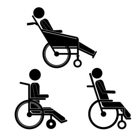 Gehandicapte ontwerp op een witte achtergrond, vector illustratie