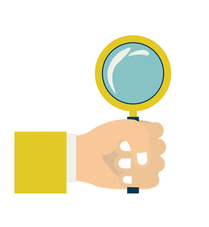 icons site search: Magnifying glass  design over white background vector illustration