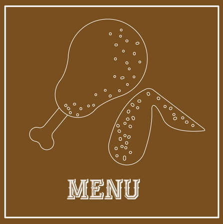 fond brun: Menu design sur fond brun illustration vectorielle