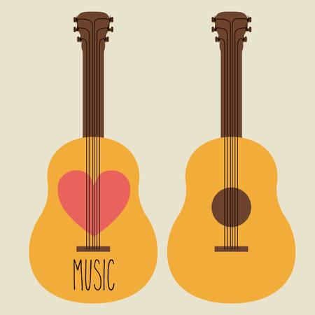 heart tone: Dise�o de la m�sica sobre fondo blanco, ilustraci�n vectorial Vectores