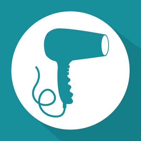 haircare: Hair Salon design over blue background, vector illustration