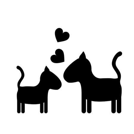 trusting: Love Pet design over white background, vector illustration
