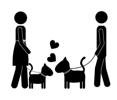 trusting: Love Pet design over white background, vector illustration