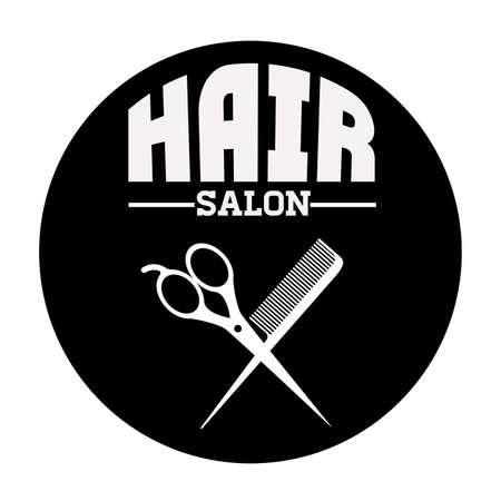 haircare: Hair Salon design over white background, vector illustration