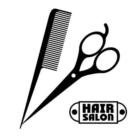 hairstylist: Hair Salon design over white background, vector illustration