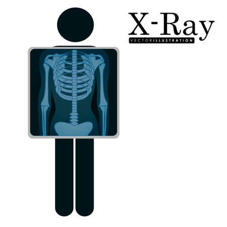 radiography: X-Ray design over white background, vector illustration