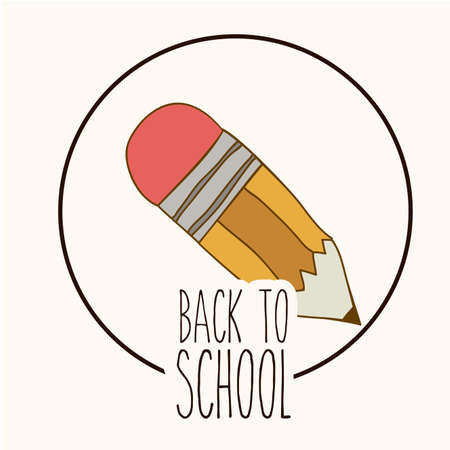 young schoolchild: Back to School design over white background, vector illustration Illustration