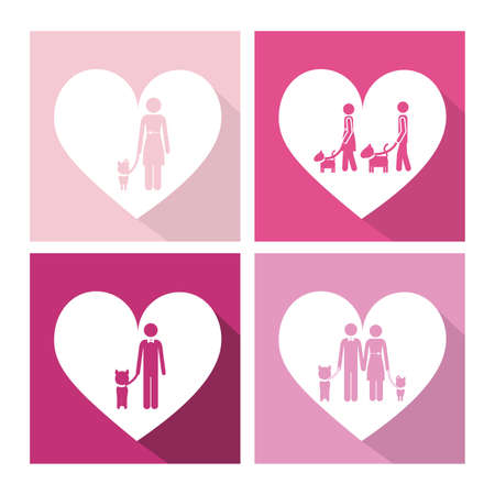 trusting: Love Pet design over pink background, vector illustration Illustration